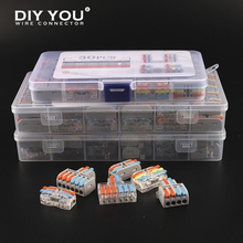 Mini TYPE Wire Connector Boxed Small Quick Terminal Block Push-In Universal Compact Electrical Cable Splitter wiring Connectors cheap DIY YOU CN(Origin) Mini TYPE 2-2 3 42 62 220 V 0 08-2 5(4 0)mm² 28-12AWG PA66 PC 250V 32A
