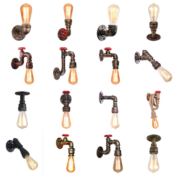 Vintage Wall Lamp Industrial Retro Wall Light Creative Water Pipe Wall Sconce Iron Metal Lamps for Restaurant Cafe Bar Kitchen vintage wall lamp industrial retro wall light creative water pipe wall sconce iron metal lamps for restaurant cafe bar kitchen