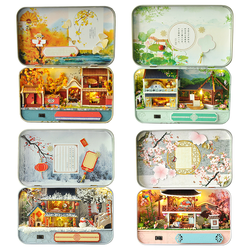 Four Seasons DIY Box Theatre Dollhouse Kit - Spring TH06