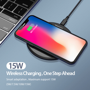 Image 2 - Coolreall 15W Qi Wireless Charger for Samsung S9 S10 iPhone X XS MAX XR 8 Plus for Xiaomi 9 Huawei P30 pro 10W Wireless Charging