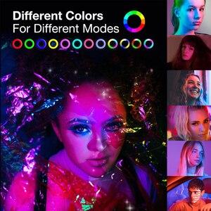 Image 5 - Bureau LED Anneau Lumière Dimmable Téléphone Enregistrement Vidéo Rond Lumière de Remplissage pour Youtube Tik Tok Vidéo Photographie Éclairage RingLight