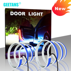New Car Door Opening Warning LED Lights Strips Anti Rear-end Collision Safety Light Welcome Flash Lights Universal Car Light CJ