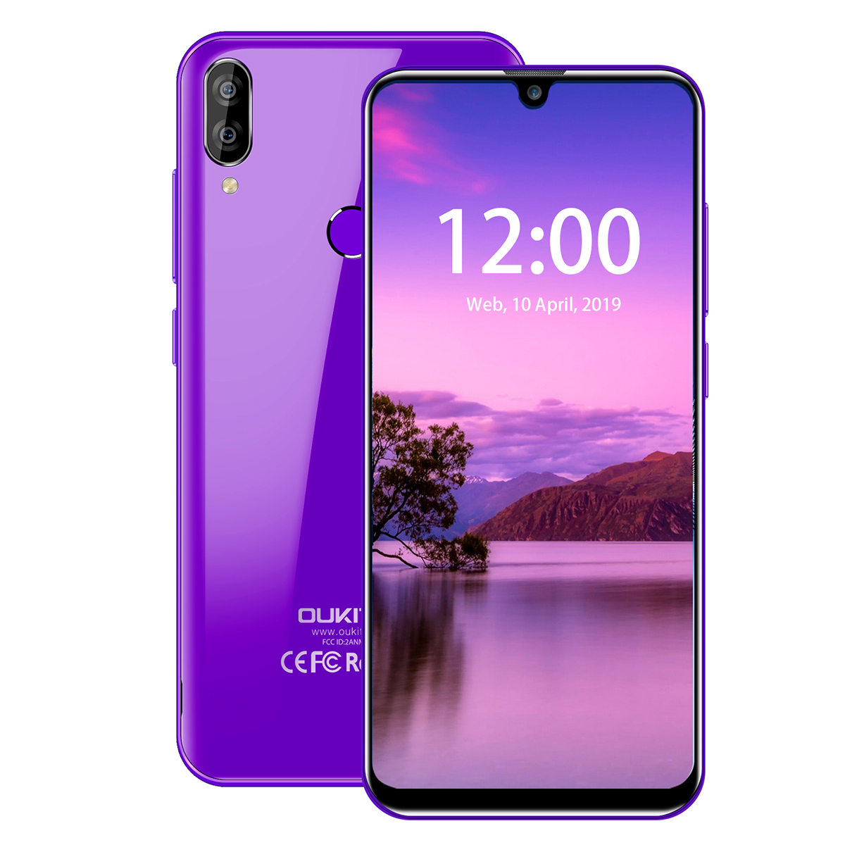 OUKITEL C16 Smartphone 5.71 inch Quad Core 2G RAM 16G ROM Cellphone 2600mAh Dual Camera Unlock Android 9.0 Mobile Phone