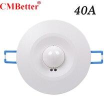 높은 품질 360 학위 600w/1200w 마이크로 웨이브 스마트 모션 센서 AC220 240V 라이트 레이더 스위치 천장 Recessed 벽 CM090