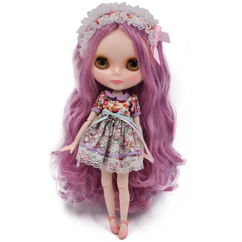 Néo Blyth poupée NBL personnalisé visage brillant, 1/6 BJD boule articulée poupée Ob24 Blyth pour fille, jouets pour enfants NBL23