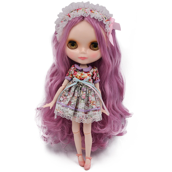 Neo Blyth Doll NBL Customized Shiny Face,1/6 BJD Ball Jointed Doll Ob24 Doll Blyth for Girl, Toys for Children NBL23 [wamami] for 12 neo blyth doll 7 joints purple short wig matte face