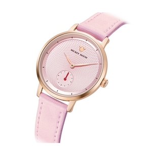 Image 2 - 2020 New Luxury Womens Fashion Trendy Wristwatch Female Disney Quartz Watch Leather Woman Watches Lady Girls Gift Mickey Clock