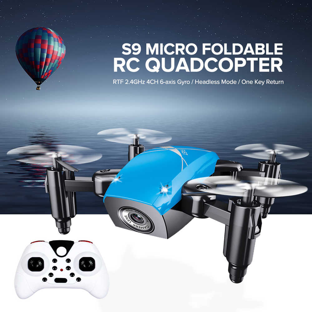 S9HW MINI Drone กล้อง S9 ไม่มีกล้อง RC Quadcopter พับ Drones ความสูงถือ RC Quadcopter WiFi FPV กระเป๋า Dron VS CX10W