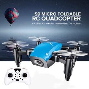 Image 2 - Mini cuadricóptero S9HW con cámara S9, Dron teledirigido sin cámara, plegable, mantenimiento de altitud, WiFi, FPV, Dron de bolsillo VS CX10W, gran oferta 2020