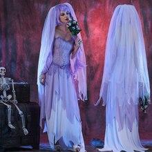 Bride Costume Party-Dress Zombie-Corpse Halloween Womens Umorden Dying Dia-De-Los-Muertos