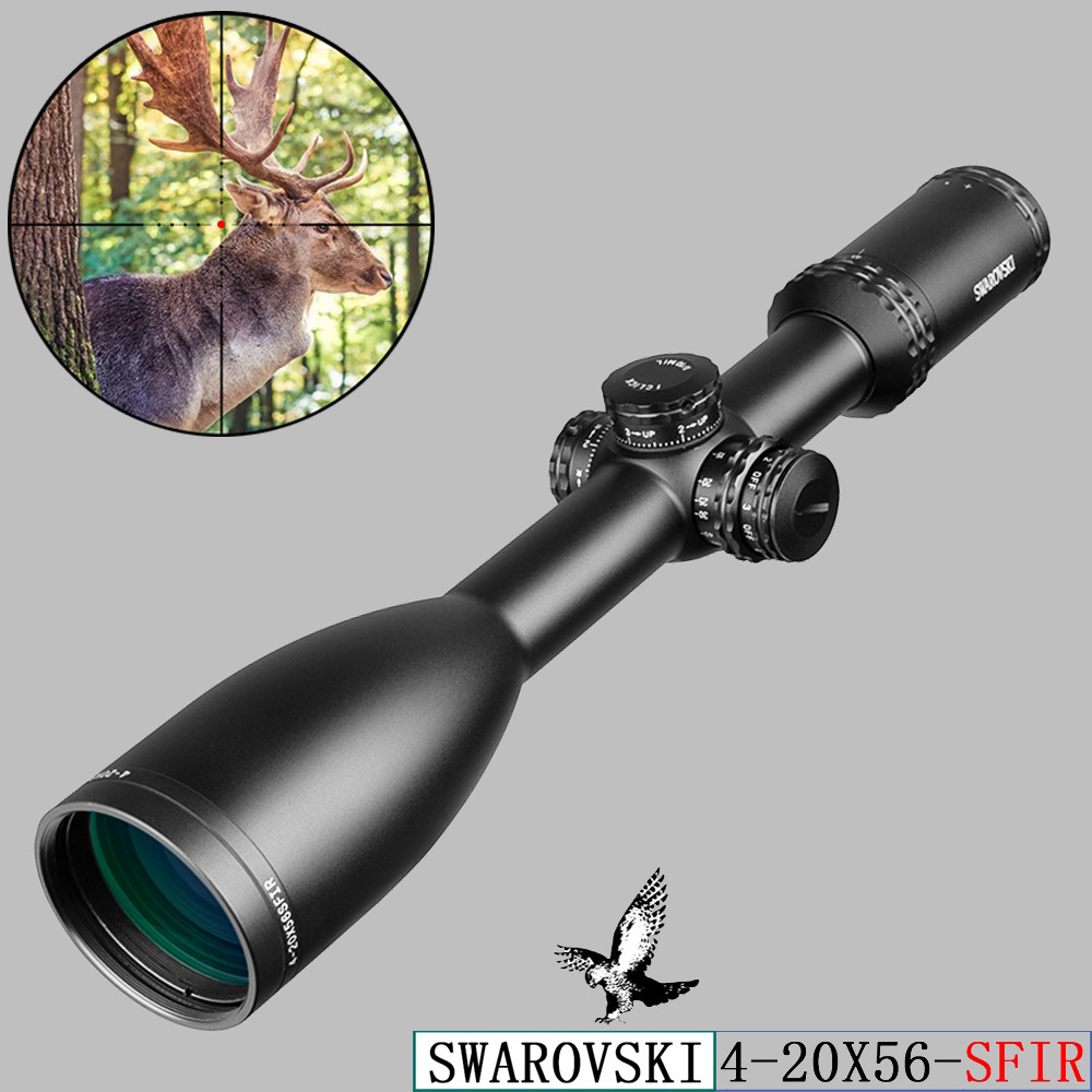 Swarovskl 4-20x56 SFIR Riflescopes Mil Dot Glass Crosshairs Hunting Scopes Optics Rifle Scope Tactical Air Rifle Hunting