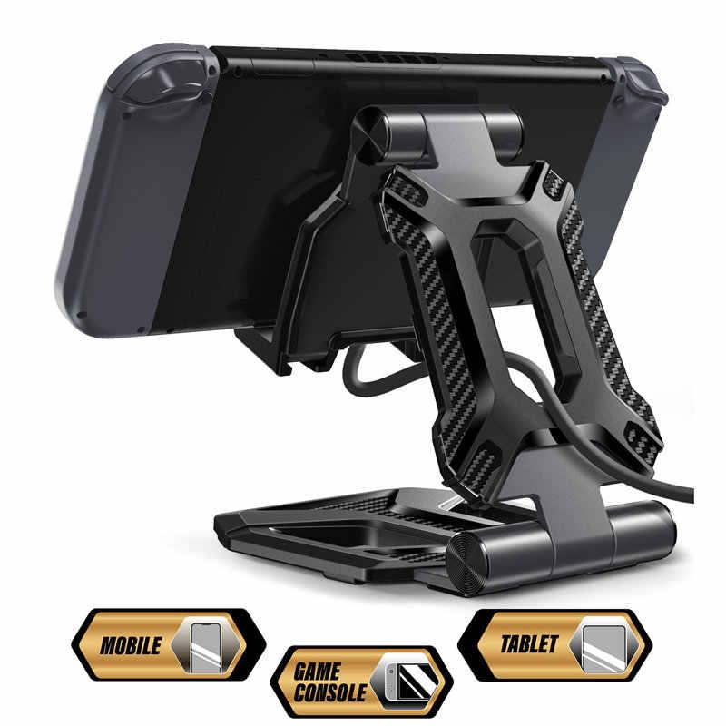 Przenośny regulowane biurko uchwyt do montażu stacja dokująca do iPhone'a iPad Air Pro Mini, Galaxy Tab, dla Nintendo przełącznik i więcej w wieku 4-13 ''(SUPCASE)