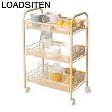 رف تنظيم أدوات المطبخ من Estanteria Etagere مزود بحامل إسفنجي منزلي لتنظيم تخزين المطبخ مزود بعجلات رف من Prateleira