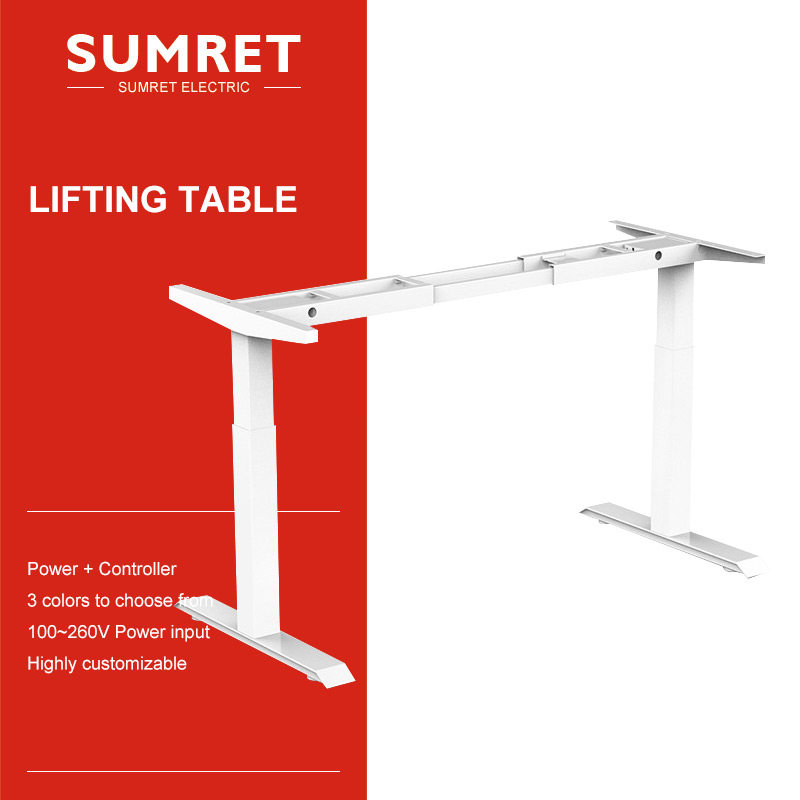 electric-table-lift-desk-lifting-column-intelligent-smart-adjustable-height-two-foot-noiseless-bounce-back-overheating-protectio