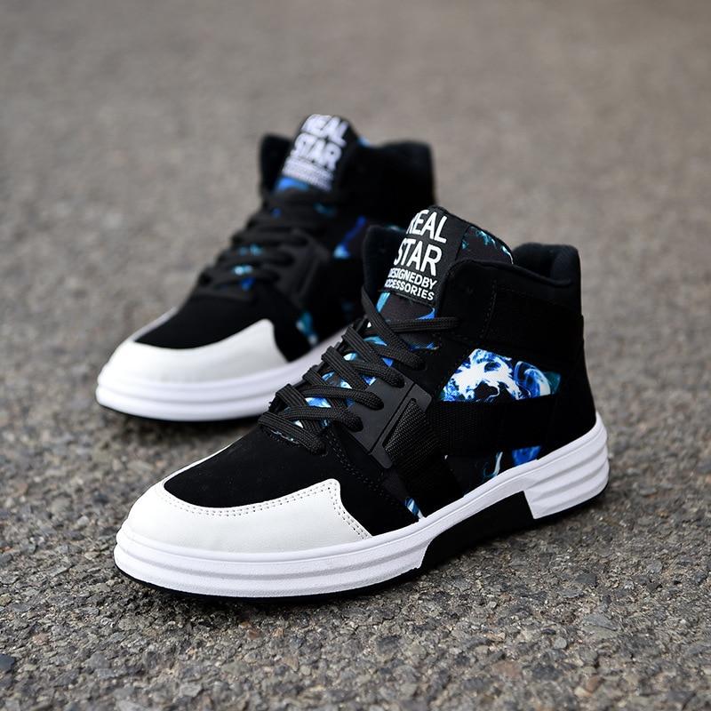 DealµMen Shoes Sneakers High-Top Fashion Comfortable Hombre Non-Slip Outdoor Zapatillas Nanx169