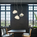 Современные светодиодные подвесные светильники Внутреннее освещение столовая лампа черный минималистичный подвесной светильник украшен...
