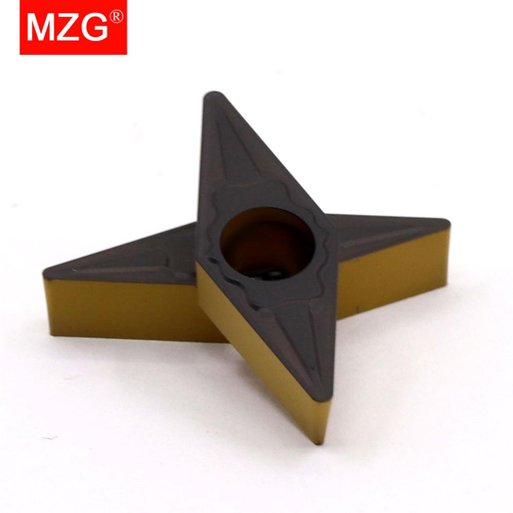 MZG 10PCS VBMT <font><b>1604</b></font> 04 08 ZC32 Steel Turning Boring Cutting CNC Lathe Machining Solid CVD Coated Carbide Inserts image
