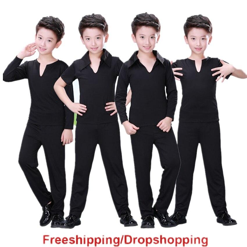 2019 News Boy Kids Latin Dance Dress Top Pants Suit Rumba Samba Ballroom Professional Children Dance Costume Clothes For Dancing
