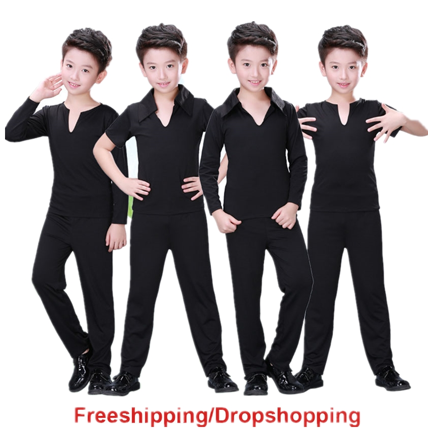 2020 News Boy Kids Latin Dance Dress Top Pants Suit Rumba Samba Ballroom Professional Children Dance Costume Clothes For Dancing