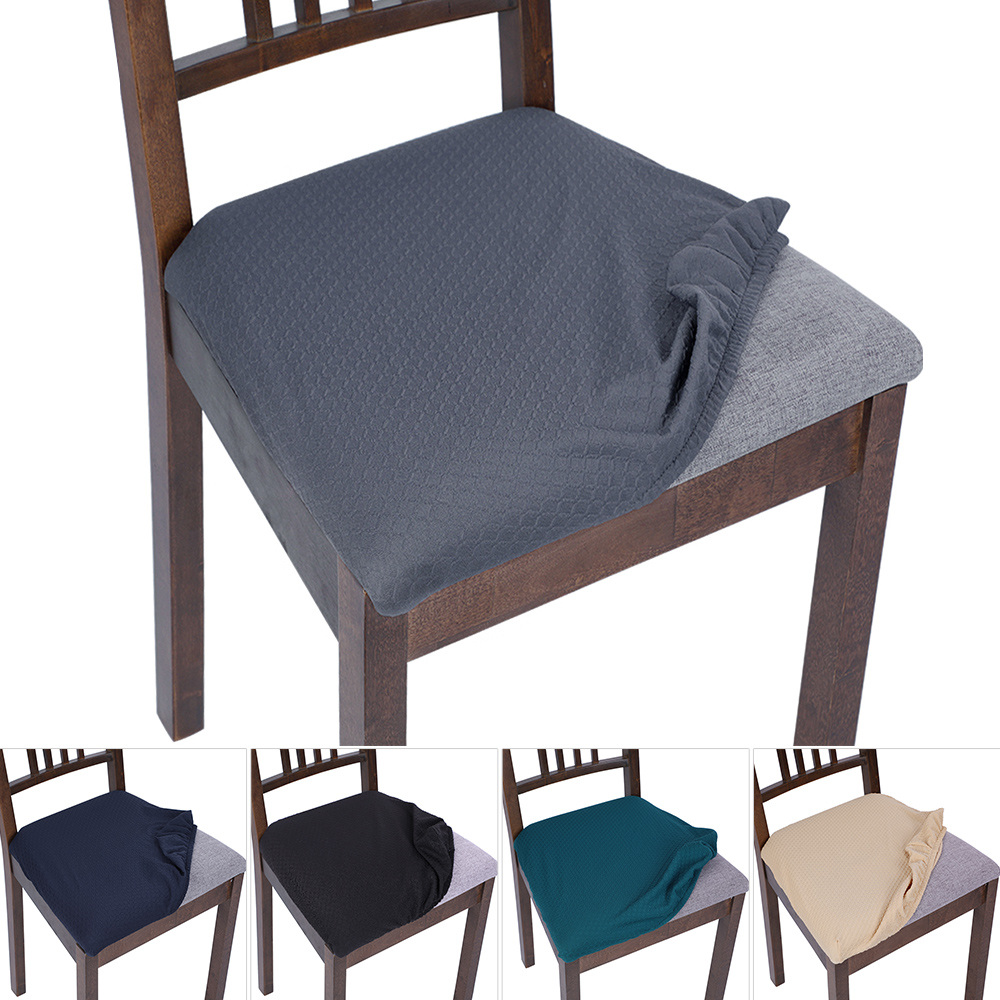 Stretch Elastic Dining Room Chair Seat Covers Universal Removable Washable Chair Seat Cushion Slipcover Chair Cover Aliexpress