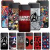 Smartphone Case For Samsung Galaxy Z Flip3 5G Z Flip 3 z flip ZF 5G Cover PC Capa Hard Funda Coque Marvel Hero Logo