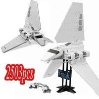 Disponibile 35005 i blocchi di costruzione del modello della navetta imperiale illuminano i giocattoli di figura per il regalo di natale dei bambini