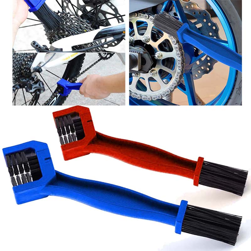 1pc Cycling Motorcycle  Chain Clean Brush Bicycle Gear Grunge Brush Cleaner Outdoor Cleaner Scrubber Tool Motorcycle Clean Tool