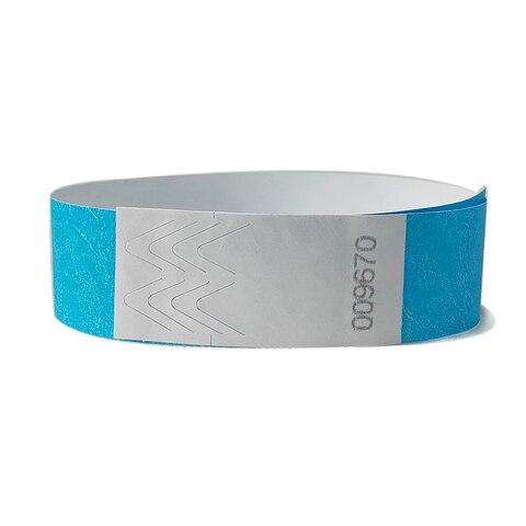 500 pecas cor azul neon 3 4 polegada tyvek pulseiras com numeros pulseiras de cor