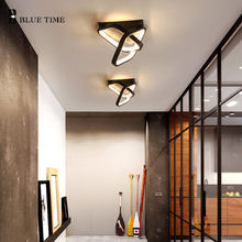 Modern Led Ceiling Light Aisle Light Corridor Light For Living room Bedroom Kitchen Home Black Ceiling Lamp Aluminum 110V 220V