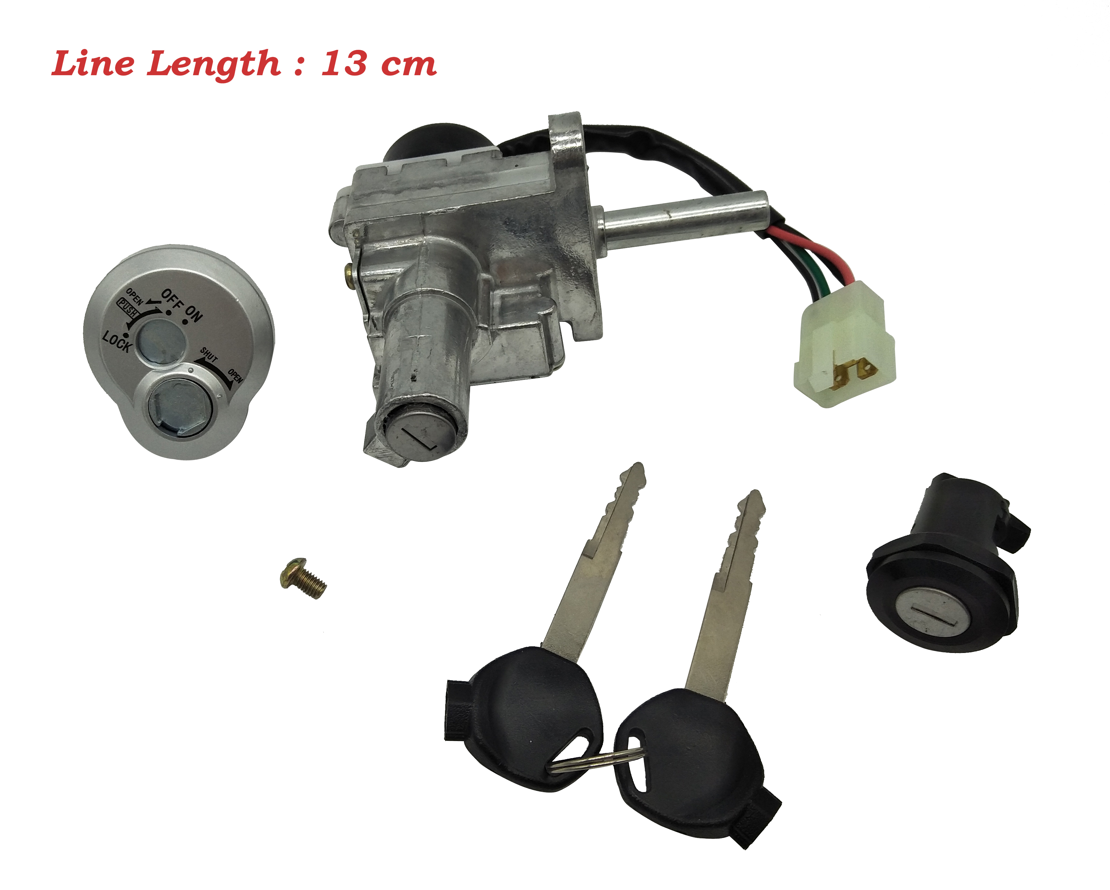 Z024 Moped Scooter Motorcycle Lock For 125 4 Generation Electric Door Lock Sets For Yamaha ZY125T-4 4 Generation Antitheft Lock