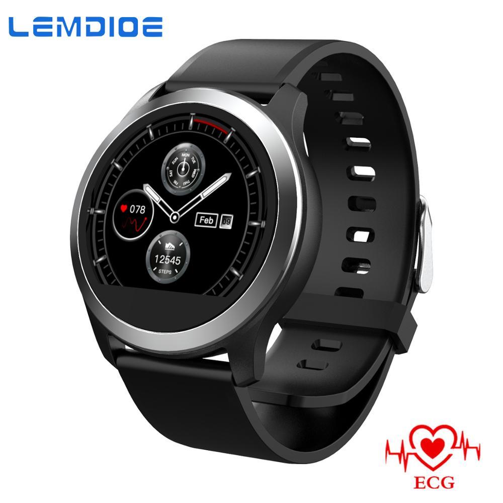 LEMDIOE ECG PPG smartwatch Men Smart Watch Waterproof IP67 Heart rate detection ECG measurement Health watch