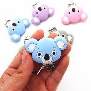 Image 4 - Chenkai Clips Koala en Silicone, 10 pièces, DIY pour bébé, anneau de dentition, sucette porte chaîne factice, attache sucette, jouet, sans BPA