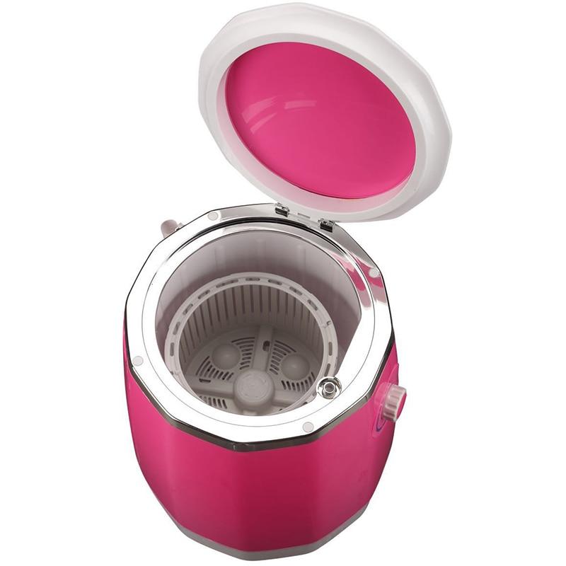 JIQI Mini Semi-automatic Washing Dehydration Machine Household Dormitory Single-barrel Washer Prevent Winding Wave Wheel Laundry