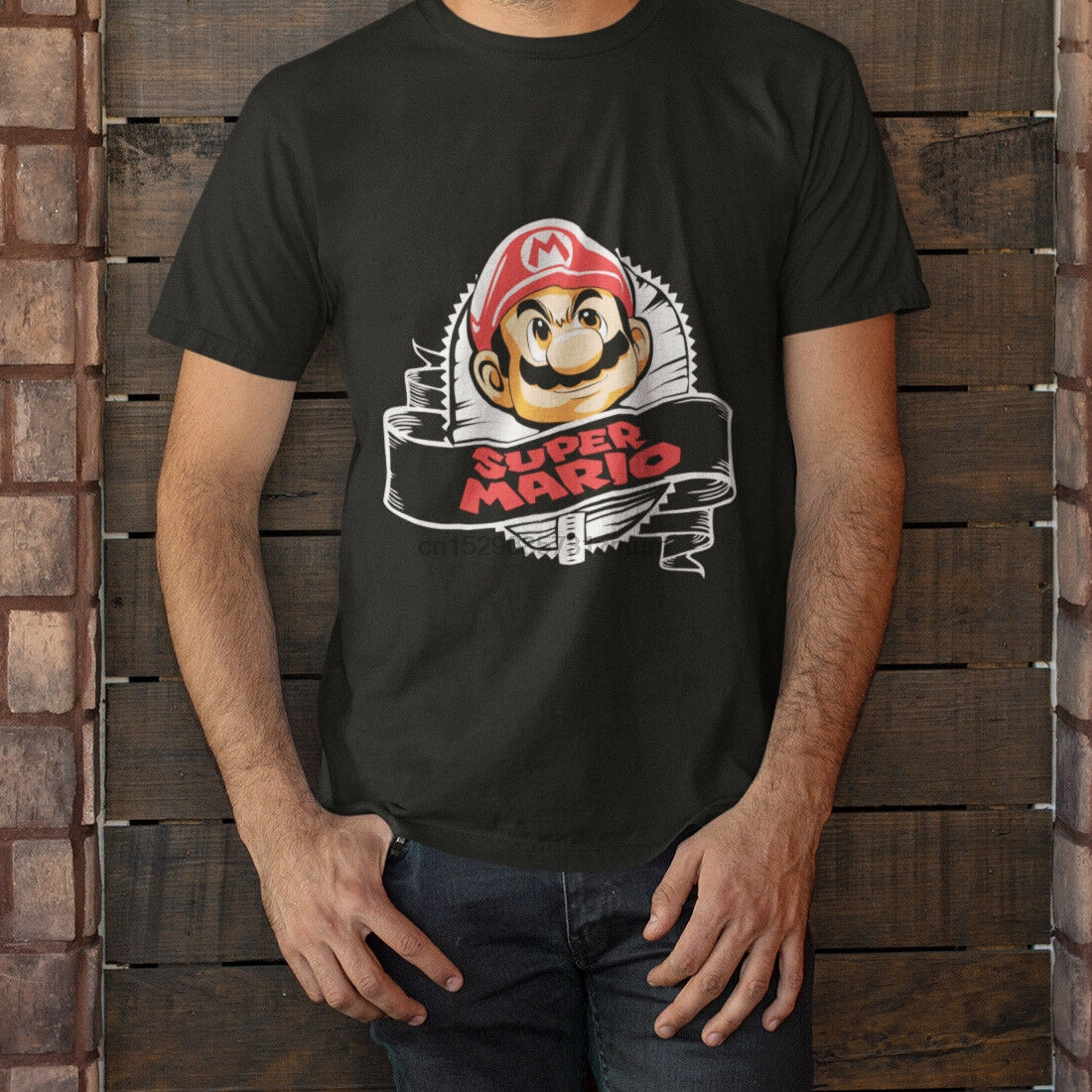 New Super Mario Bros Short Sleeve Black Men/'s T-Shirt Size S-5XL
