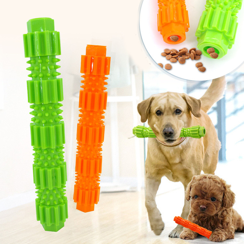 Soft Dog Chew Toy Rubber Pet Dog Teeth Cleaning Toy Aggressive Chewers Food Treat Dispensing Toys for Puppy Small Dogs