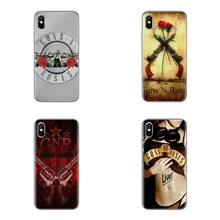 Guns N Roses Transparent Soft Shell Covers For Xiaomi Redmi 4 3 3S Pro Mi3 Mi4 Mi4i Mi4C Mi5 Mi5S Mi Max Note 2 3 4(China)
