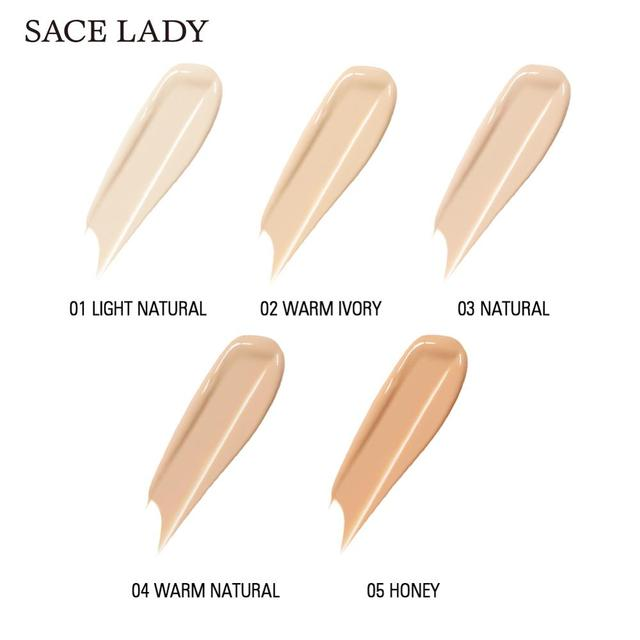 SACE LADY Full Cover Pro Concealer Cream Makeup Face Corrector Liquid Make Up Base For Eye Dark Circles Facial Natural Cosmetic 1