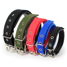 Adjustable Nylon Strap Dog Collar For Small Large Dogs Puppy Pet Accessories Leather Golden Retriever Husky Neck