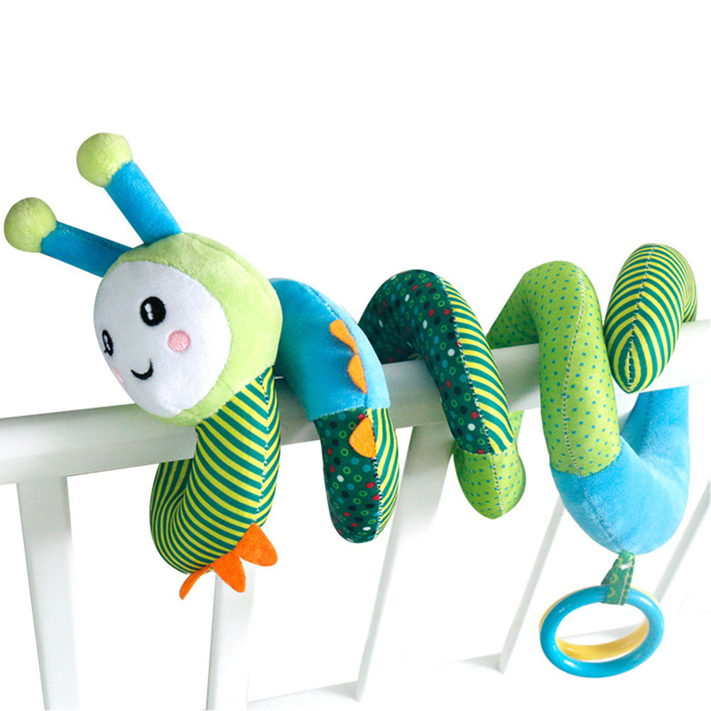 Hanging Educational For Newborns Stroller Car Seat Baby Spiral Rattle Toy Crib Gift Soft Plush Bed Bells Clear Sound Cute Bee