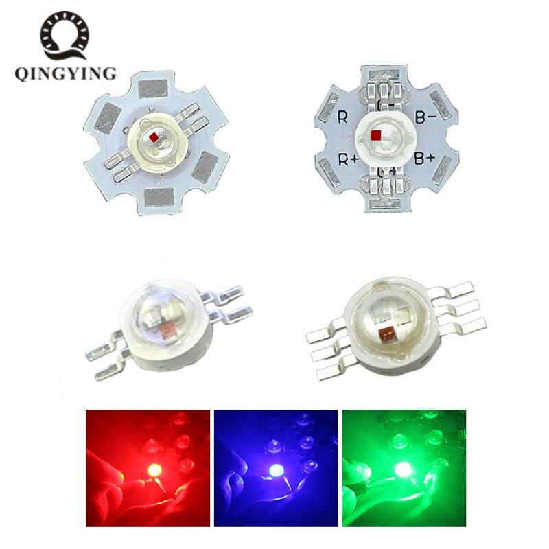 10-100Pcs Real Full Watt 1W 3W High Power LED Lamp Bulb Diodes SMD 2.0-3.6V RGB LED For Spotlight Downlight DIY Beads