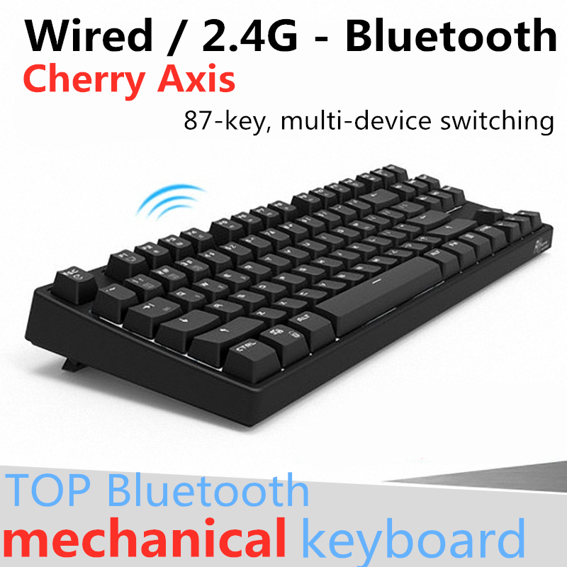 Cherry Axis Wireless Mechanical Keyboard 87 Key Bluetooth Gaming Keyboard USB 2in1 Dual Mode Backlit Black,Blue,Brown,Red Axis