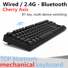 RK987 Wireless Mechanical Keyboard 87 key Black,Blue,Brown,Red Cherry Axis 2in1 Dual Mode Backlight Bluetooth Gaming