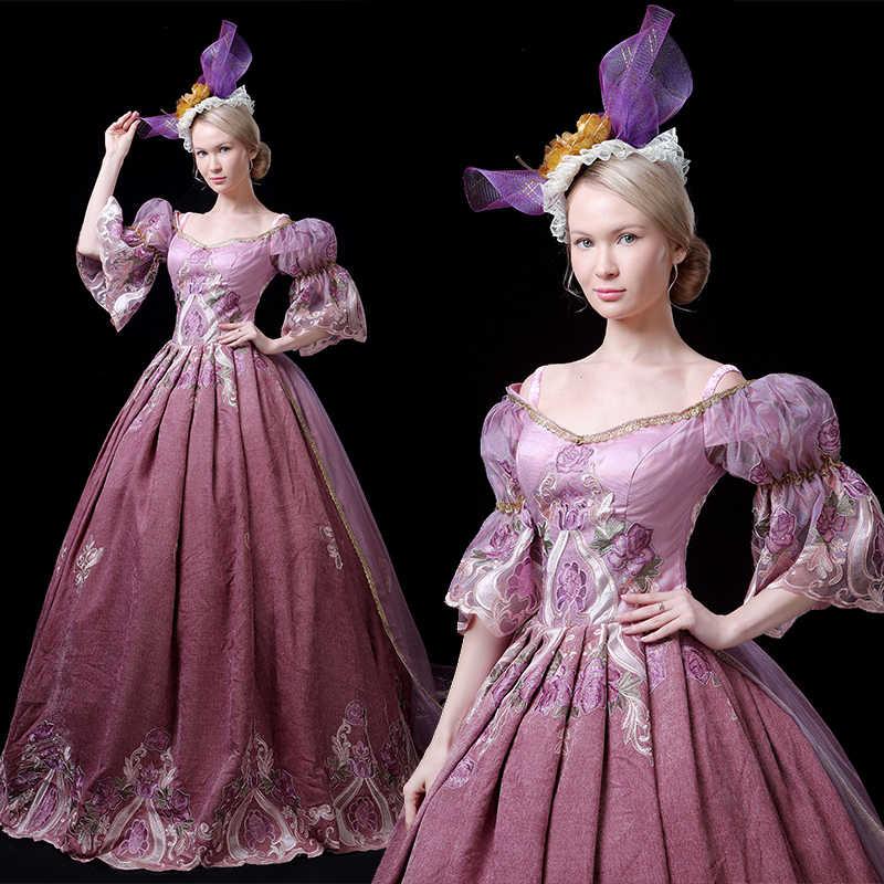 Vestido de fantasía de la mascarada del siglo XVIII Medieval vestido de Antonieta vestido barroco de la mascarada disfraz histórico vestidos victorianos