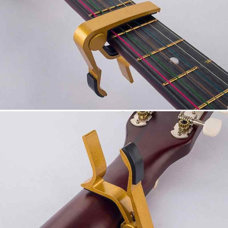 2020 גיטרה קאפו שינוי מהיר מהדק מפתח עבור Ukulele אקוסטית קלאסי גיטרה טון התאמת חשמלי גיטרה טיונר קליפ מהדק מפתח