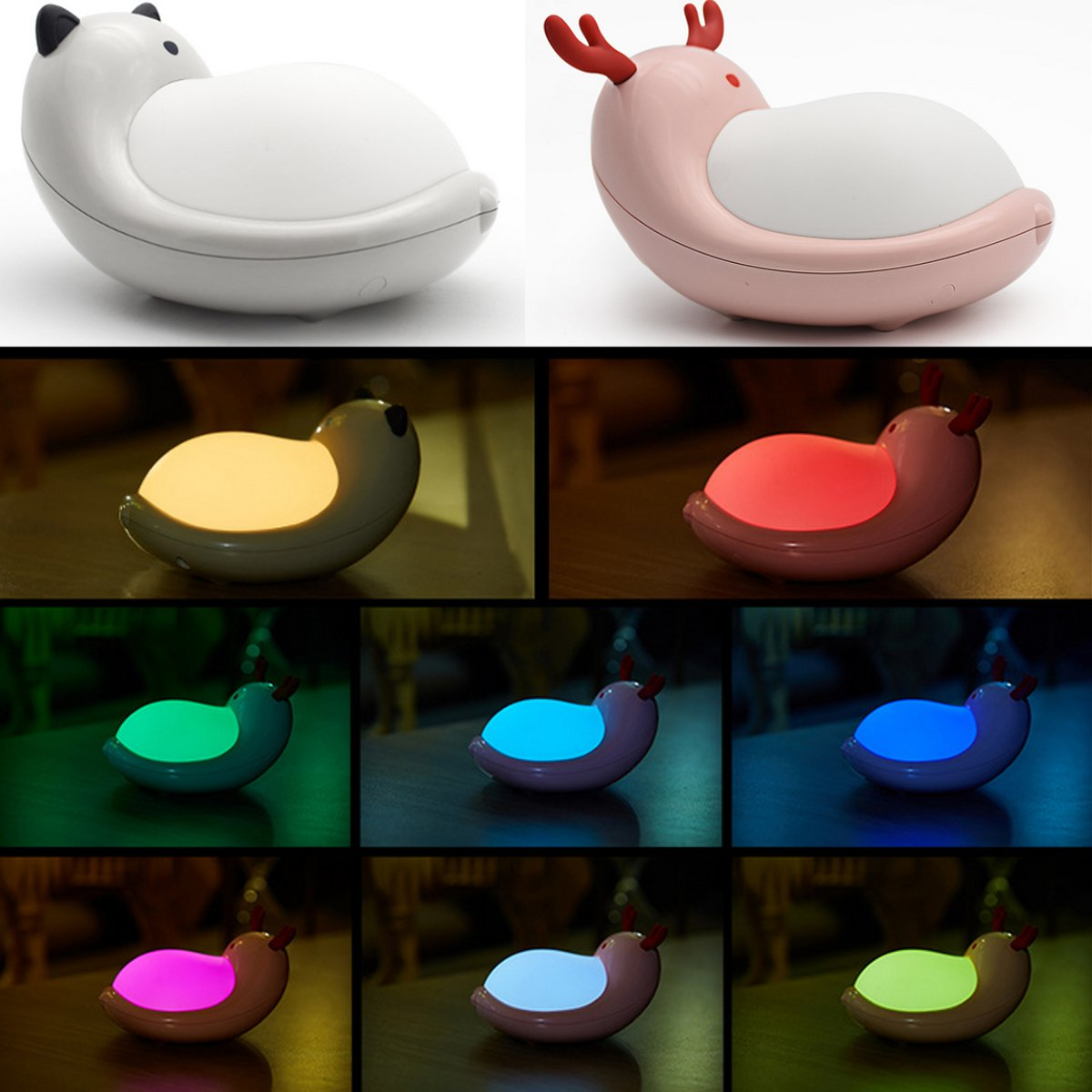 Rechargeable LED Night Light Touch Sensor Silicone USB Night Lamp Bedroom Bedside Lamp For Children Discolourable Warm White