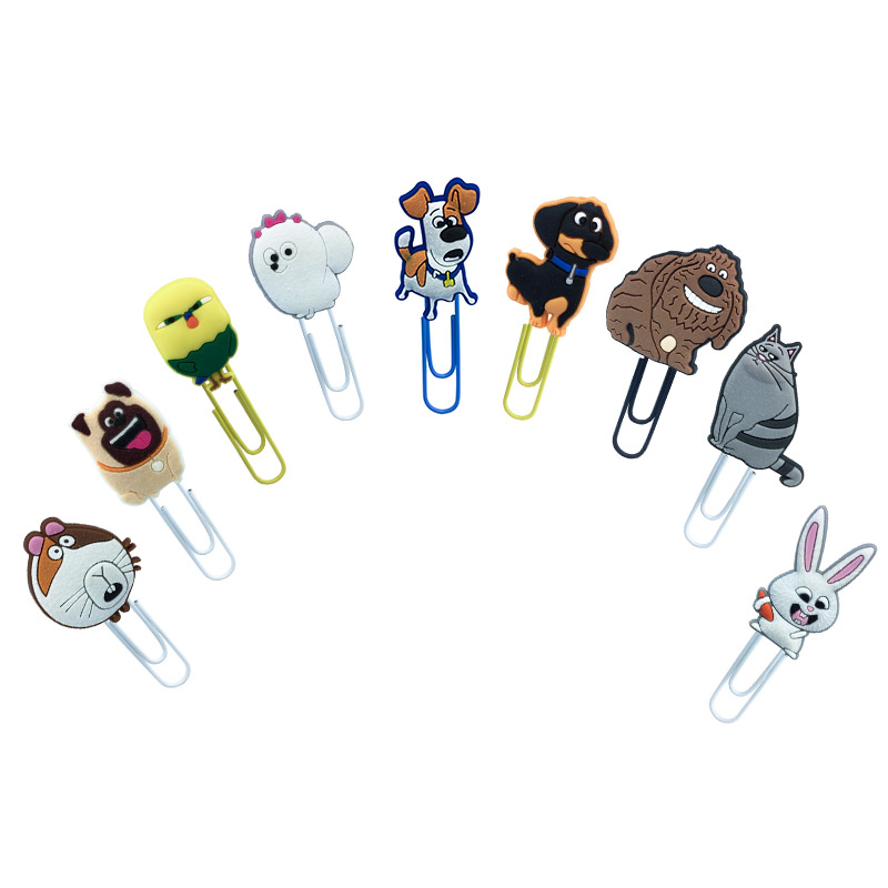 1Pcs Hot Sale Pets Dogs Bookmark Metal Clips Page Holder For Teacher Students Paper Clip School Supplies Decoration For Gifts