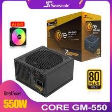 Seasonic gm550w блок питания psu pfc бесшумный вентилятор 550