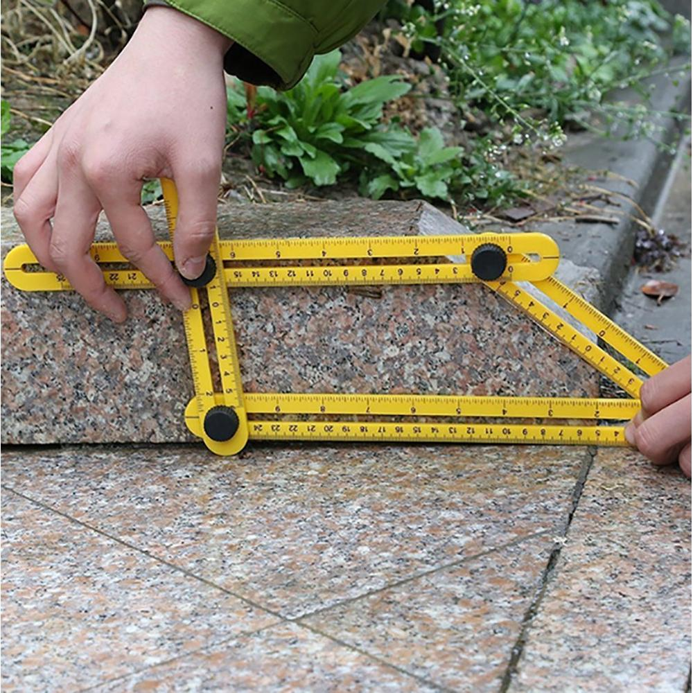 Multi-Function Measurement Abs Plastic Activity Four-Fold Ruler Multi-Angle Ruler Four-Sided Ruler Four-Foot Ruler
