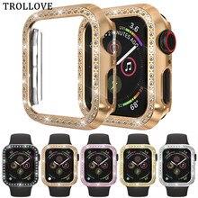 Бампер для Apple Watch, 44 мм, 40 мм, серия 5 шт., Алмазный чехол, тонкий чехол для iWatch 4, защитная крышка, пластиковая рамка, 40, 44 мм
