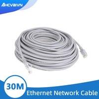Cable de red Ethernet RJ45 para sistema de cámara IP CCTV, Cable de red Cat5 de 30M y 98 pies, resistente al agua para exteriores